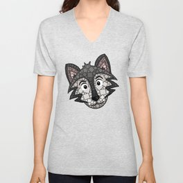Howl You Doin'? - Cute Wolf - Puppy - 57 Montgomery Ave Unisex V-Neck