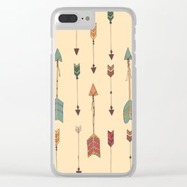 Bohemian hand drawn arrows, 01 Clear iPhone Case