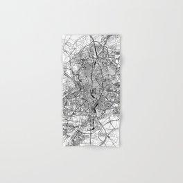 Madrid White Map Hand & Bath Towel