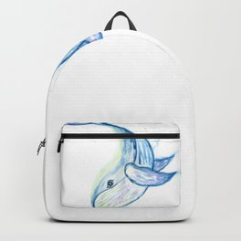 Cute whale watercolor Backpack