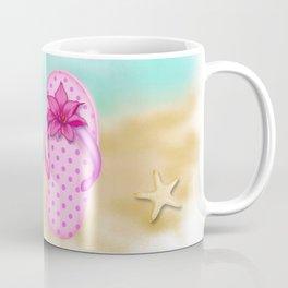 Beach & summer slippers  Coffee Mug