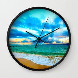 BYU Pounders Beach ... By LadyShalene Wall Clock