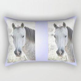 white beauty Rectangular Pillow