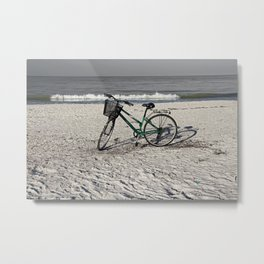 Bike on Barefoot Beach Metal Print