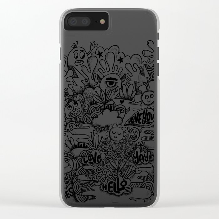 Monster gang Clear iPhone Case