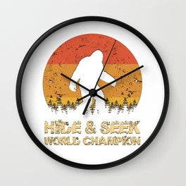 Vintage Hide And Seek World Champion Bigfoot Sasquatch Wall Clock
