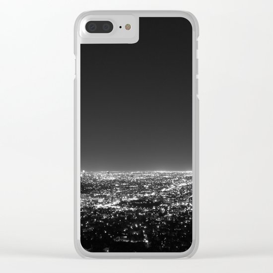 LA Lights Clear iPhone Case