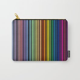 Vertical multicolored lines Carry-All Pouch