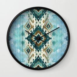 ARAPAHO PATCHWORK PATTERN ART Wall Clock