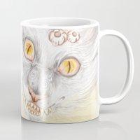 cheshire cat Mugs featuring Cheshire Cat by Pavlo Tereshin