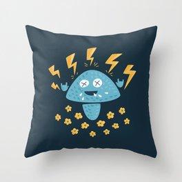 Heavy Metal Mushroom Throw Pillow