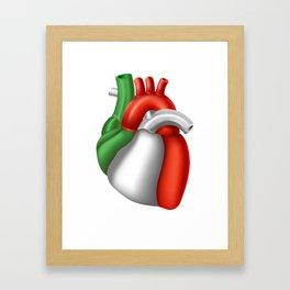 Love Italy Italian Pride Heart Framed Art Print