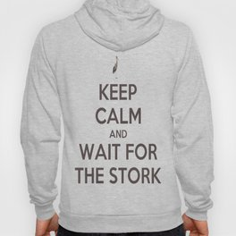 Keep Calm And Wait For The Stork Baby Delivery Hoody