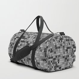 Heathered knit textile 4 Duffle Bag