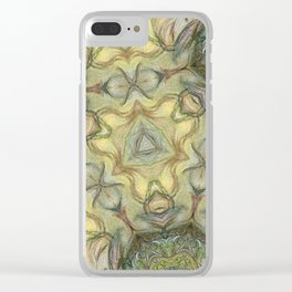 Watercolor abstract shape pattern Clear iPhone Case