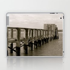 Black and White Pier Laptop & iPad Skin