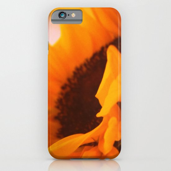 SunflowerPower ~ retro sunny orange flower iPhone & iPod Case