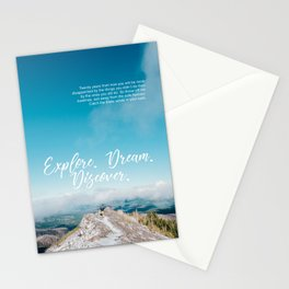 EXPLORE / DREAM / DISCOVER Stationery Cards