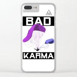 Bad Karma Clear iPhone Case