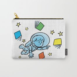 little astronaut and books Carry-All Pouch