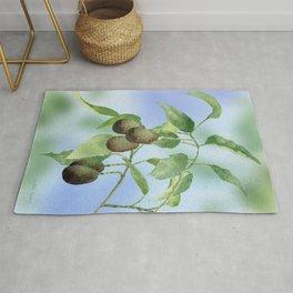 Avocado Tree Branch  Rug
