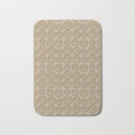 Cute Gold Hearts Pattern Bath Mat