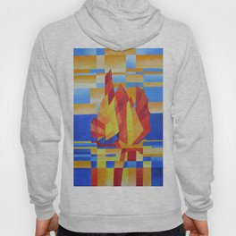 Sailing on the Seven Seas so Blue Cubist Abstract Hoody