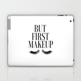 BUT FIRST MAKEUP, Wake Up And Makeup,Salon Decor,Girls Room Decor,Lashes Art,Lashes Print,Eyelashes Laptop & iPad Skin
