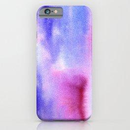 Violet watercolor clouds 6 iPhone Case