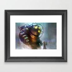 Mr Bubbles strolling  Framed Art Print