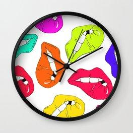 Funky lips Wall Clock