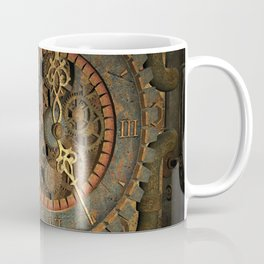 Steampunk, awesome clock, rusty metal Coffee Mug