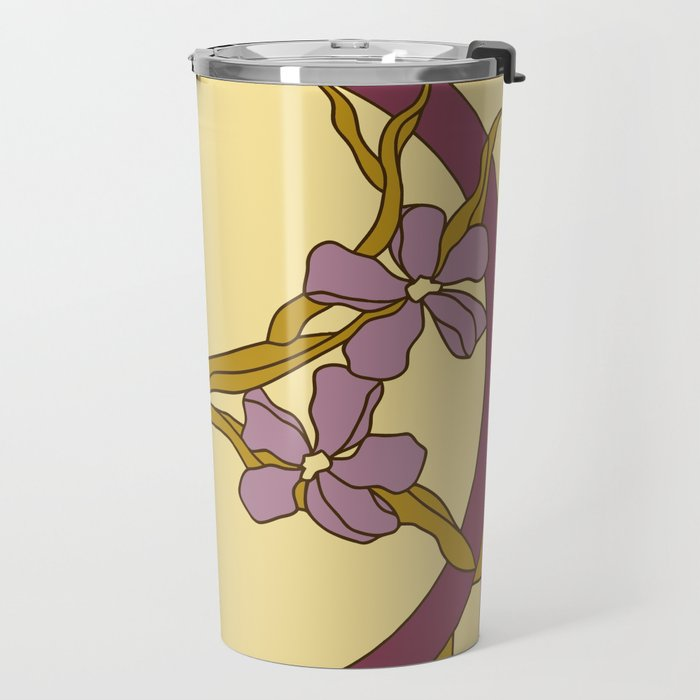 Lilac modern art nouveau flowers Travel Mug