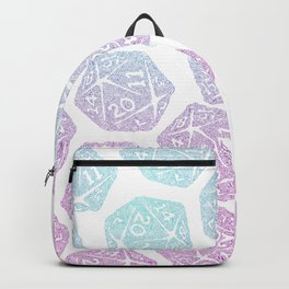 d20 pattern dice gradient pastel - icosahedron Backpack