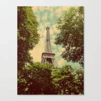 postcard Canvas Prints featuring Postcard by Emma.B