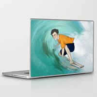 percy jackson Laptop & iPad Skins featuring Percy Surfing by limevines