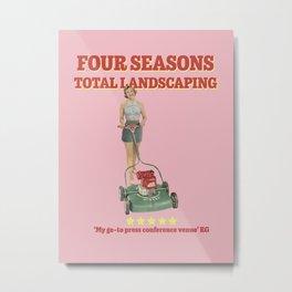 Four Seasons Total Landscaping (Pink) Metal Print