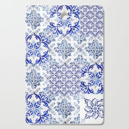 Azulejo VIII - Portuguese hand painted tiles Cutting Board