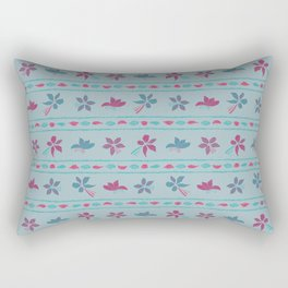 Pink and blue flowers II Rectangular Pillow