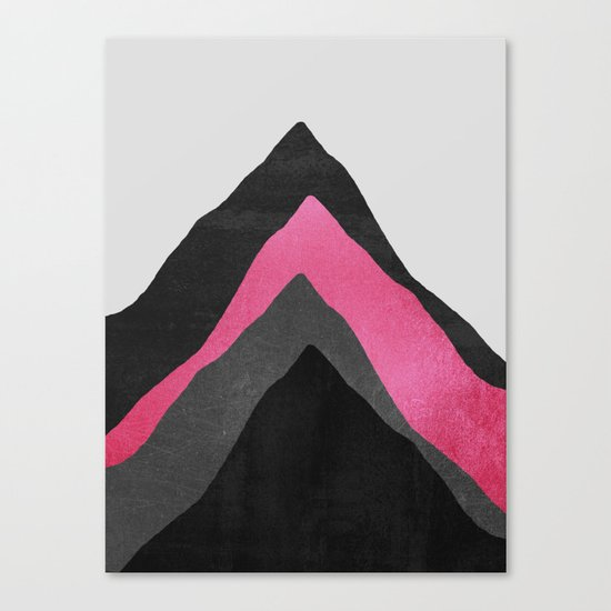 Four Mountains / Pink Canvas Print