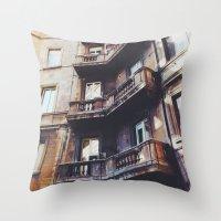 roman Throw Pillows featuring Roman Balconies by Forgotten Charm