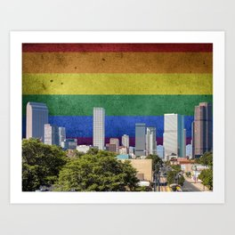 Denver, Colorado LGBT Art Print