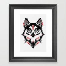 American Indian wolf Framed Art Print