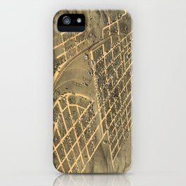 Vintage Map of Macon City Georgia (1869) iPhone Case