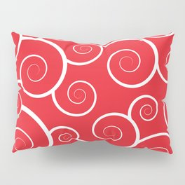 Spiral Waves (Red) Pillow Sham