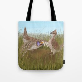 Sharp-tailed Grouse (Canavians Series) Tote Bag