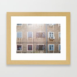 Typical house in Pula Framed Art Print