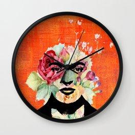 Frida flowers Wall Clock