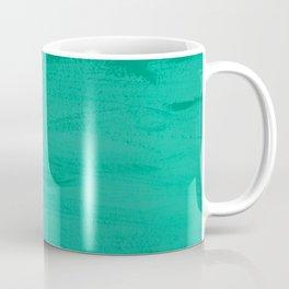 Mood Strokes Turquoise Coffee Mug
