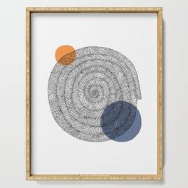 hypnotic spiral Serving Tray